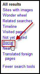 Google Social Search Tools